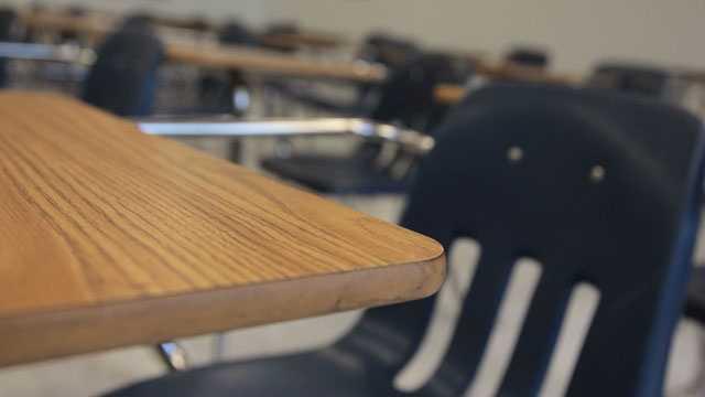 Desk, classroom, school, education