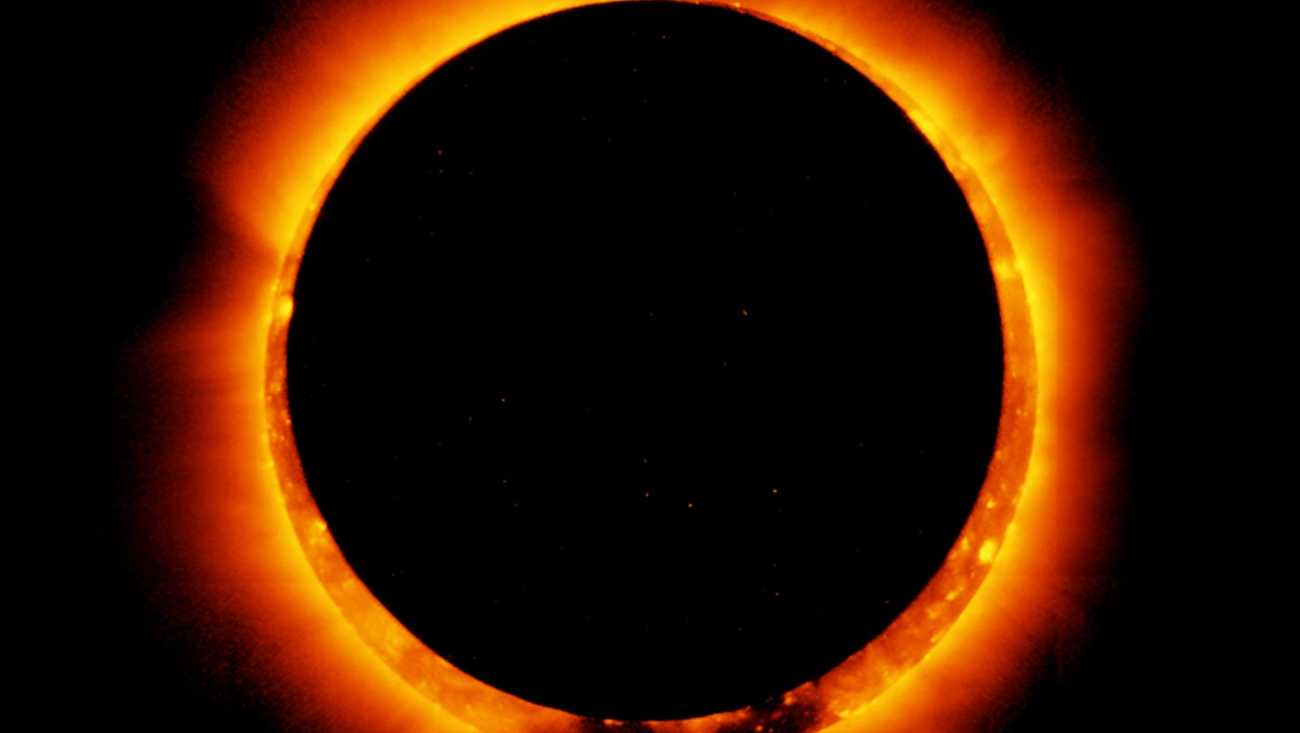 NASA's Hinode satellite captured this image of a solar eclipse on Jan. 4, 2011.