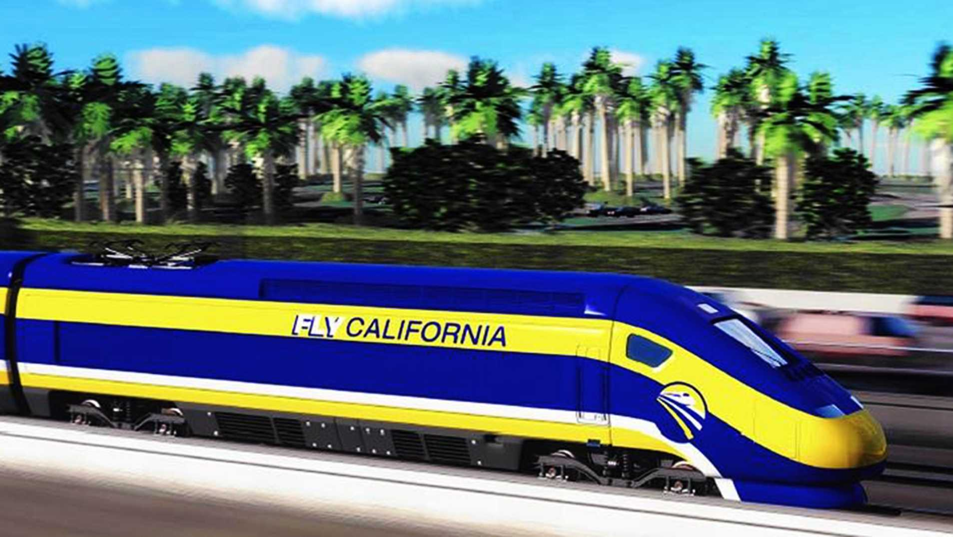An artist's conception of the planned train.