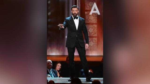Hugh Jackman bouncing up a storm during the opening number at The Tony Awards left many people scratching their heads. Buzz60's Leigh Scheps (@LeighTVReporter) explains why.