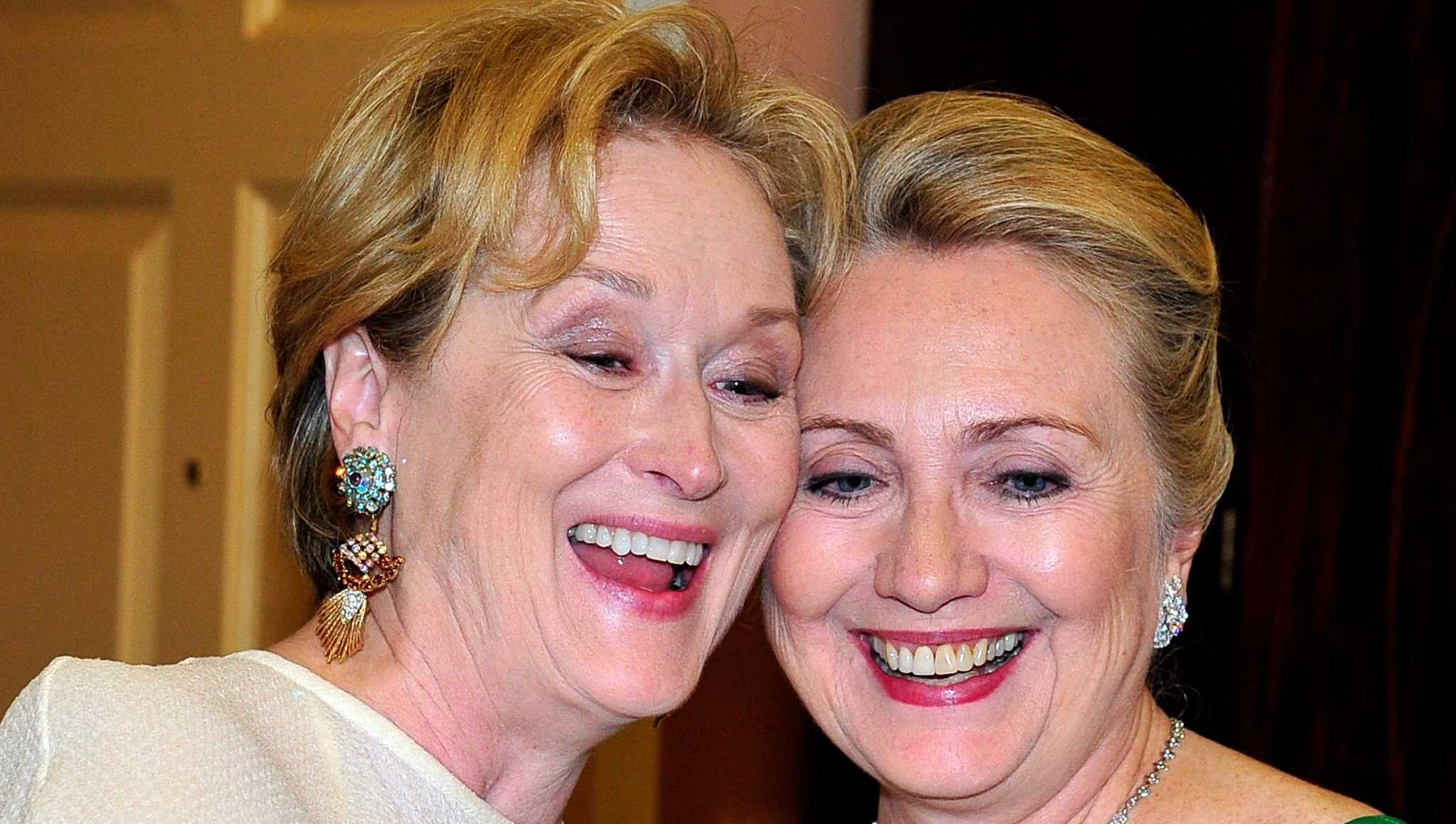 Meryl Streep and Hillary Clinton