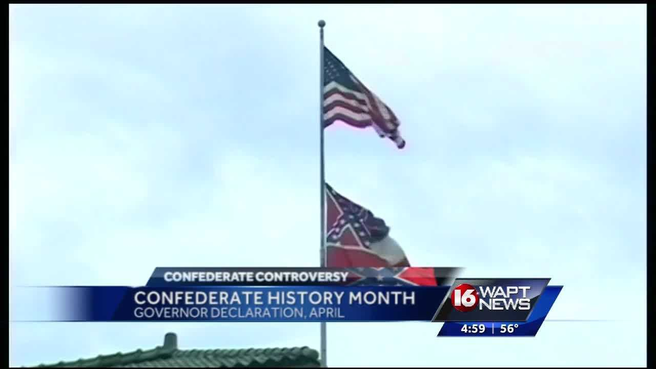 Confederate history month debate