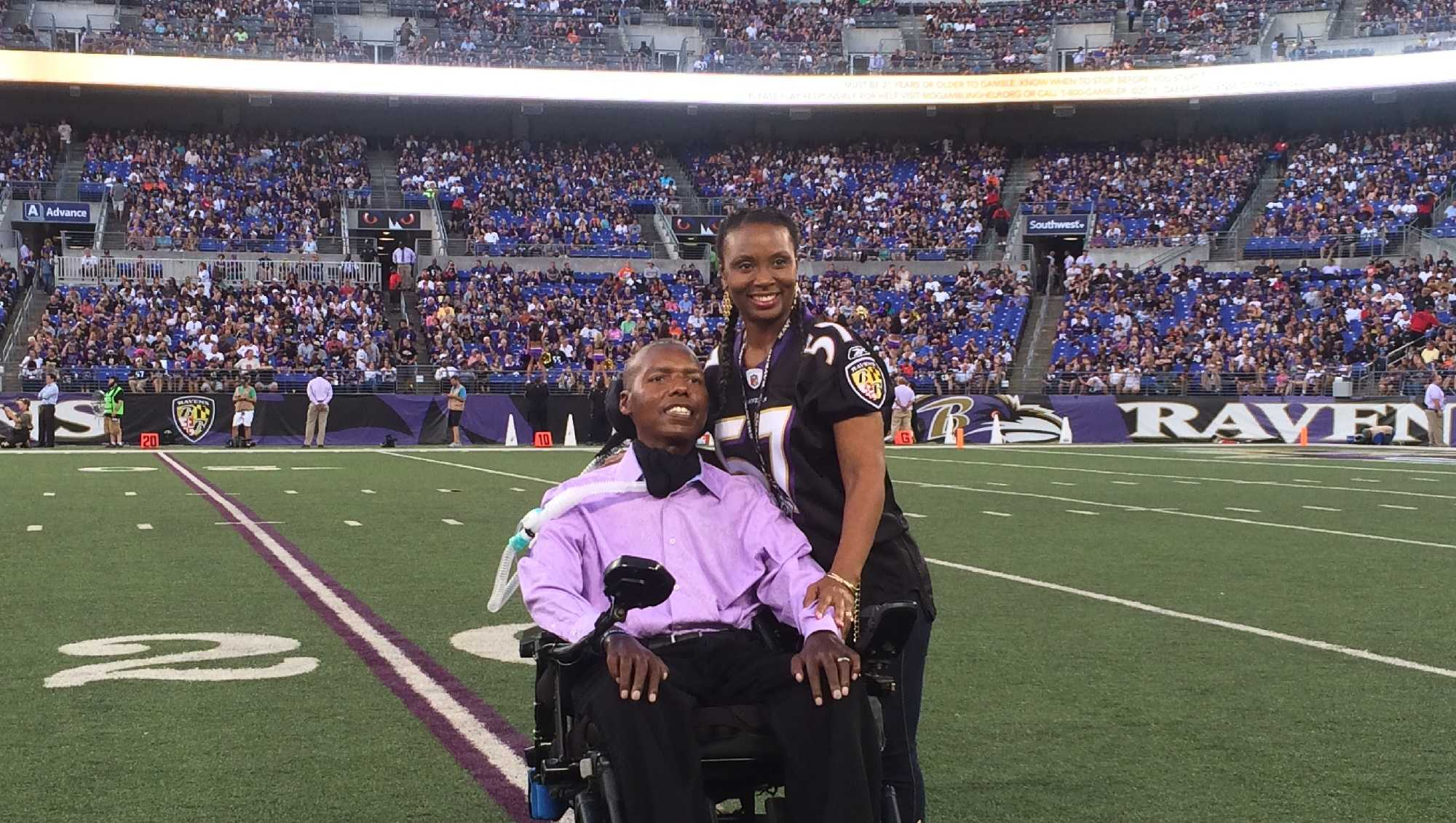 Fomer Raven OJ Brigance founded the Brigance Brigade as a way to combat ALS.