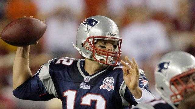 New England Patriots quarterback Tom Brady throws a pass during the first half of a preseason NFL football game against the Washington Redskins on Friday, Aug. 28.