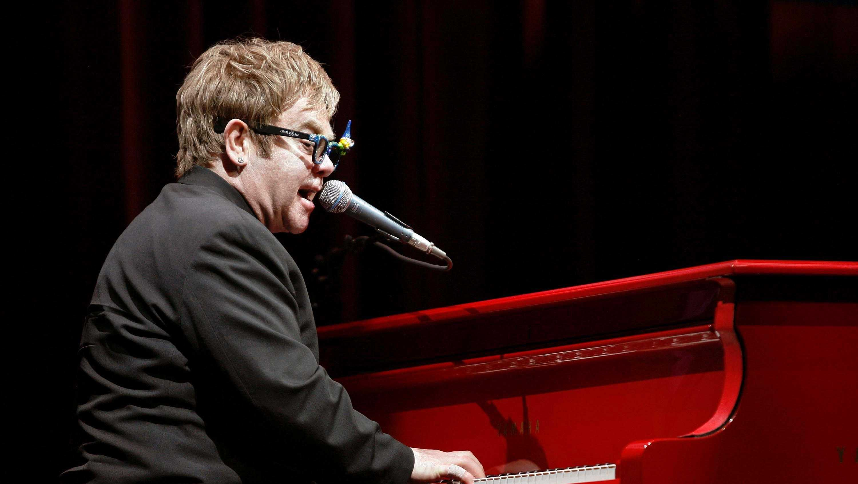 "Musician Elton John performed at the premiere of ""Gnomeo & Juliet"" in Hollywood, Calif., on Jan. 23, 2011."