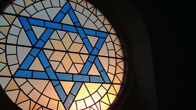 Star of David on window