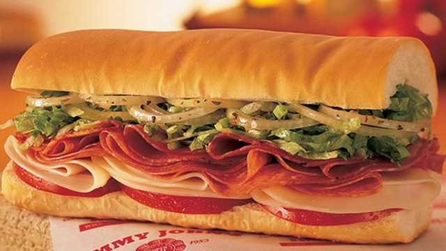 TIED 5) Jimmy John's Gourmet Sandwiches. Score: 7.7(Via Consumer Reports)