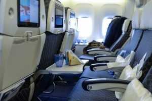 Wipe down your airplane seat with antibacterial wipesEverything from fecal matter to MRSA has been found in airplane cabins. If it was a quick turnover from the last trip, it's likely all the cleaning crew did was pick up garbage.