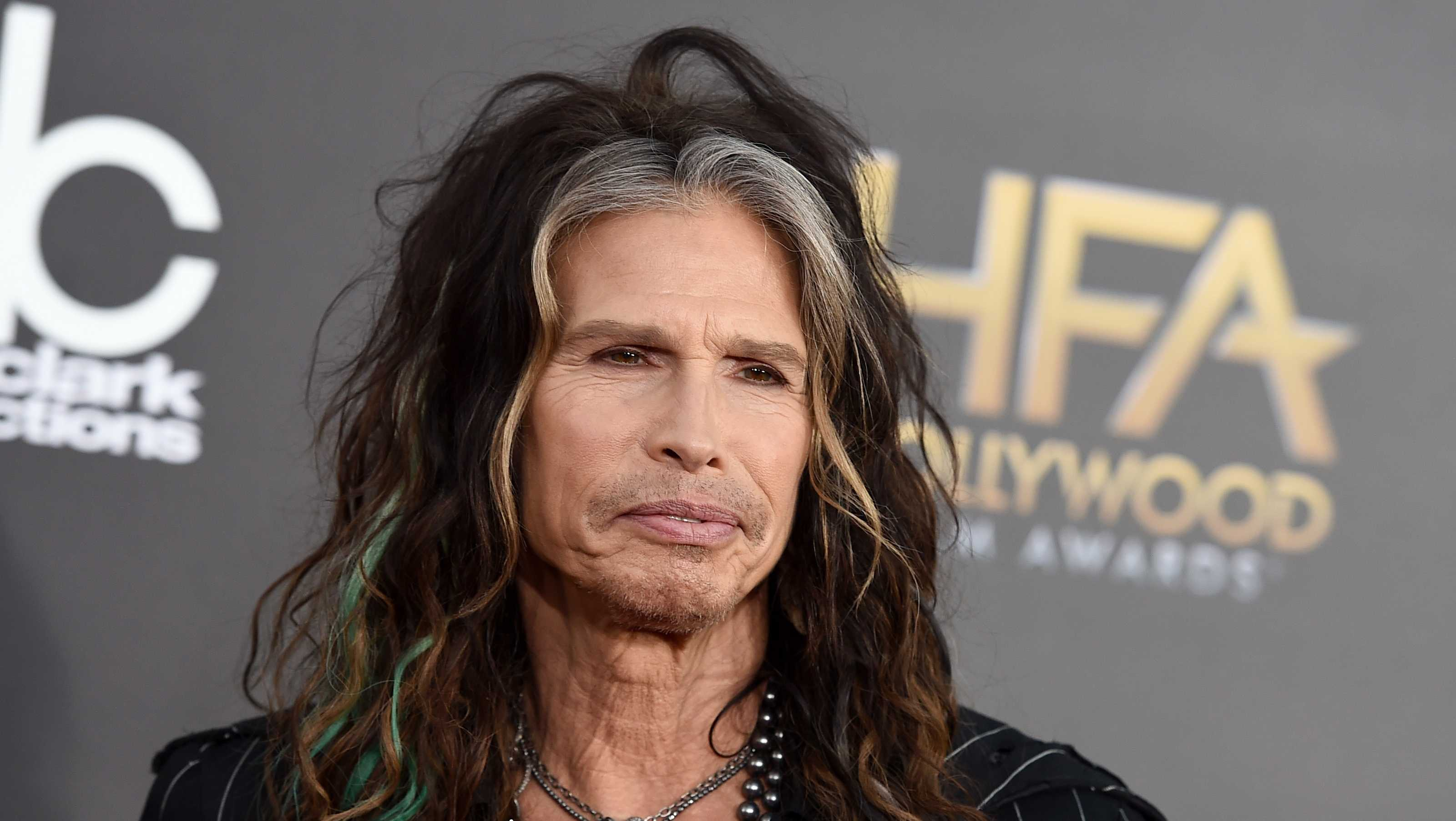 "Steven Tyler arrives at the Hollywood Film Awards at the Palladium, in Los Angeles. Aerosmith frontman Tyler is asking Republican presidential candidate Donald Trump to stop using the power ballad ""Dream On"" at campaign events."