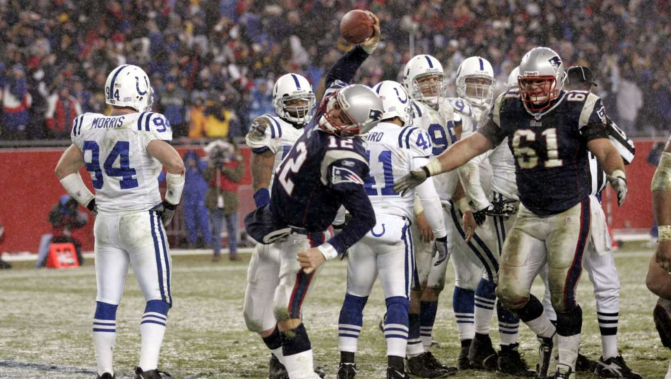 Win #07 - In a snowstorm, the Patriots dismantled the league's highest scoring team by forcing three turnovers and holding them to just 276 yards and 3 points, their lowest point total since their opening game of the 2003 season. Peyton Manning suffered his seventh loss in Foxborough, and the Patriots won 20-3.