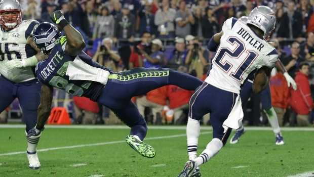 Malcolm Butler played an essential role in the New England Patriots Super Bowl XLIX victory, intercepting Russell Wilson's pass to seal the victory.