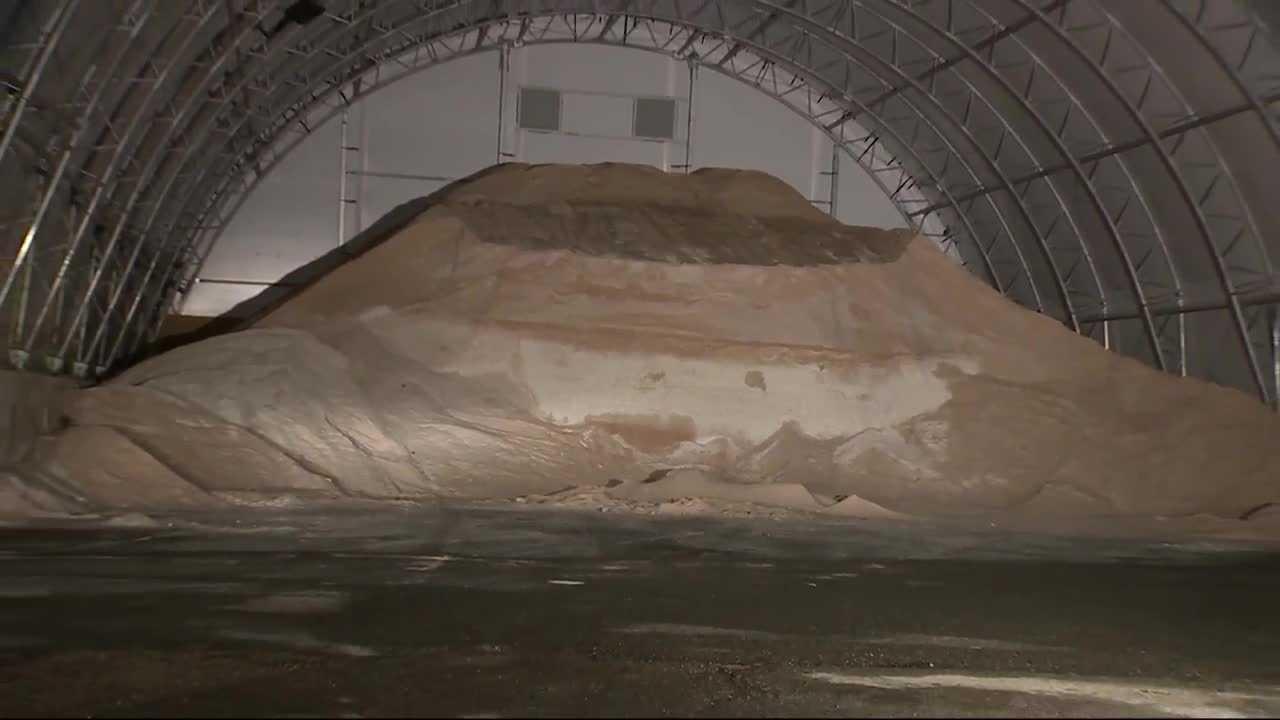 Salt pile