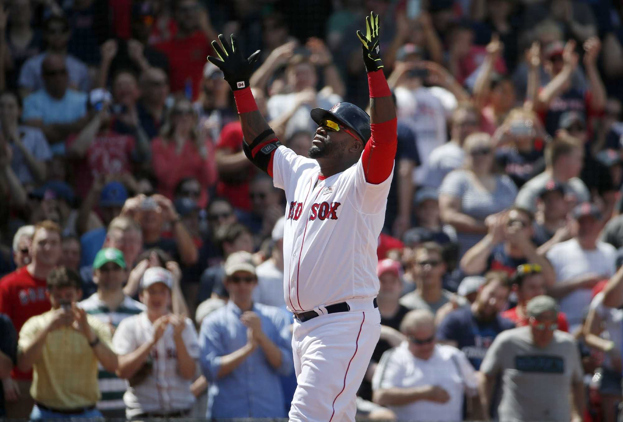 Julian Edelman pays his respect to Boston Red Sox legend David Ortiz