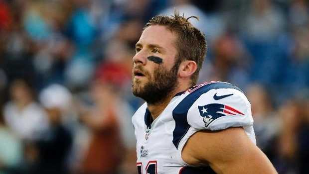 Julian Edelman is ranked 18th among wide receivers and 37th overall.