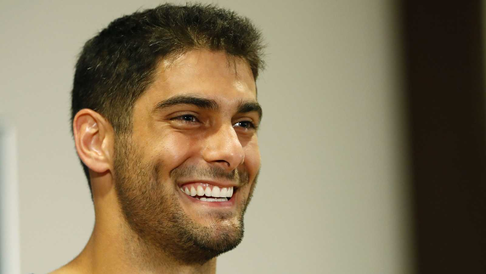 "He was known as Prince Aladdin in the locker roomEveryone is aware of how good looking Garoppolo is, and that includes his teammates. It was reported that his locker room name plate was changed to ""Prince Aladdin"" by a group of undisclosed Patriots. The resemblance is uncanny."