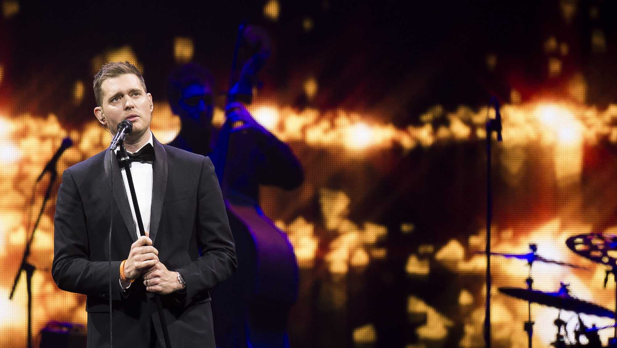 Michael Buble performs in concert at Madison Square Garden on Tuesday, July 8, 2014, in New York.