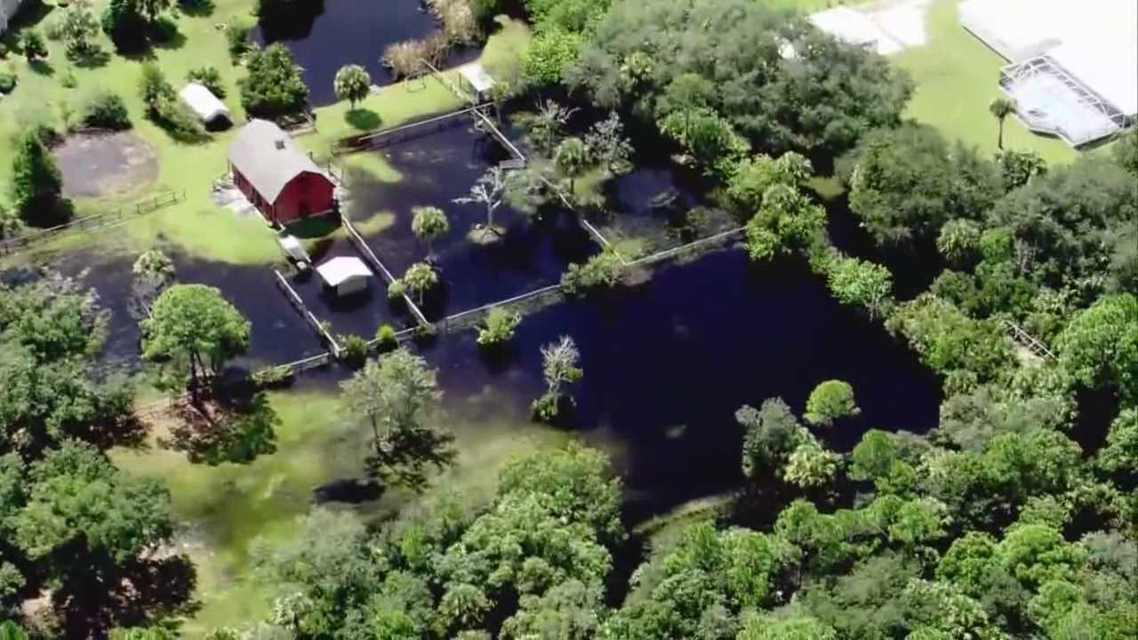 St. Johns River flooding near Lake/Volusia County line