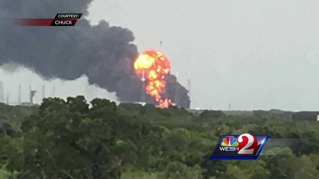 An explosion has rocked the SpaceX launch site in Cape Canaveral.