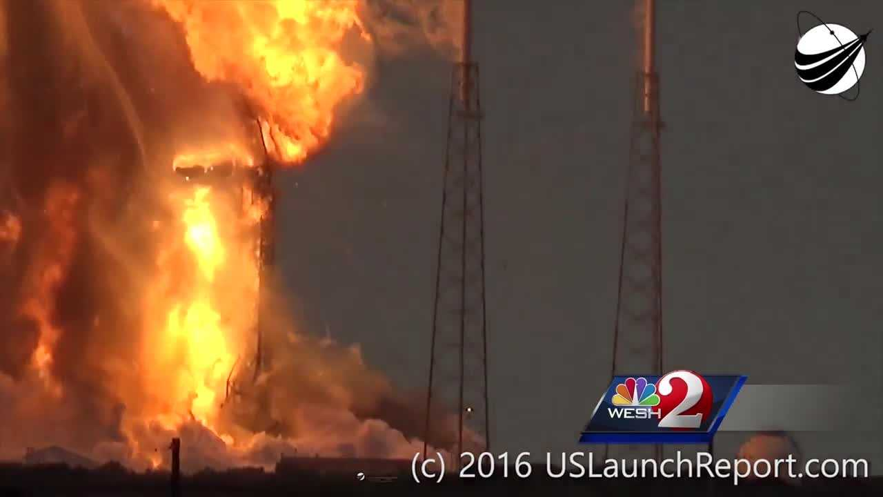 The founder of SpaceX suggests astronauts would have survived had they been onboard the rocket that blew up in a spectacular fireball at Cape Canaveral Thursday. Dan Billow reports.
