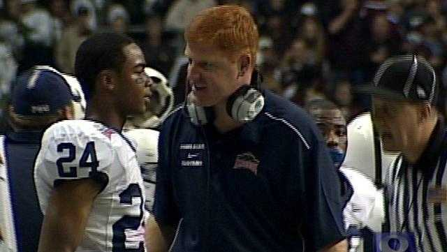 Penn State Assistant Mike McQueary coaches the wide receivers and is also the school's recruiting coordinator.