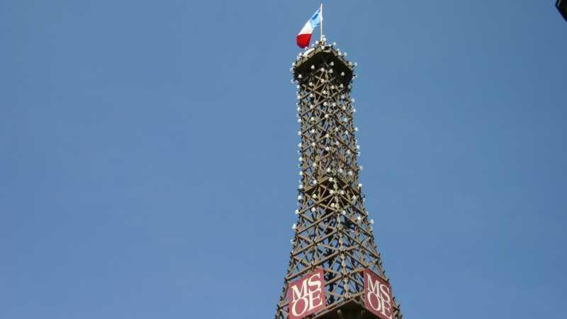 Eiffel Tower set-up outside MSOE.