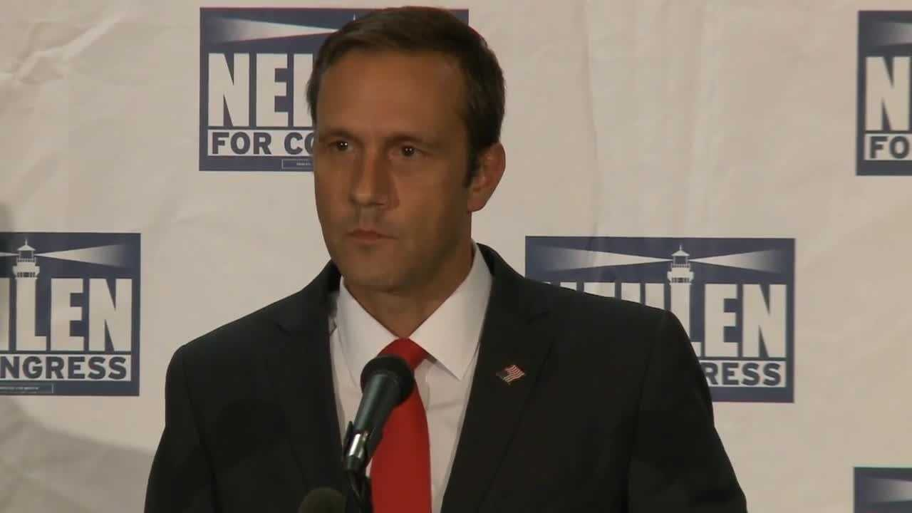 Republican Paul Nehlen gives his concession speech.