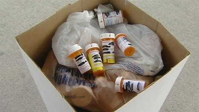 Residents drop off old prescription drugs to be disposed of properly