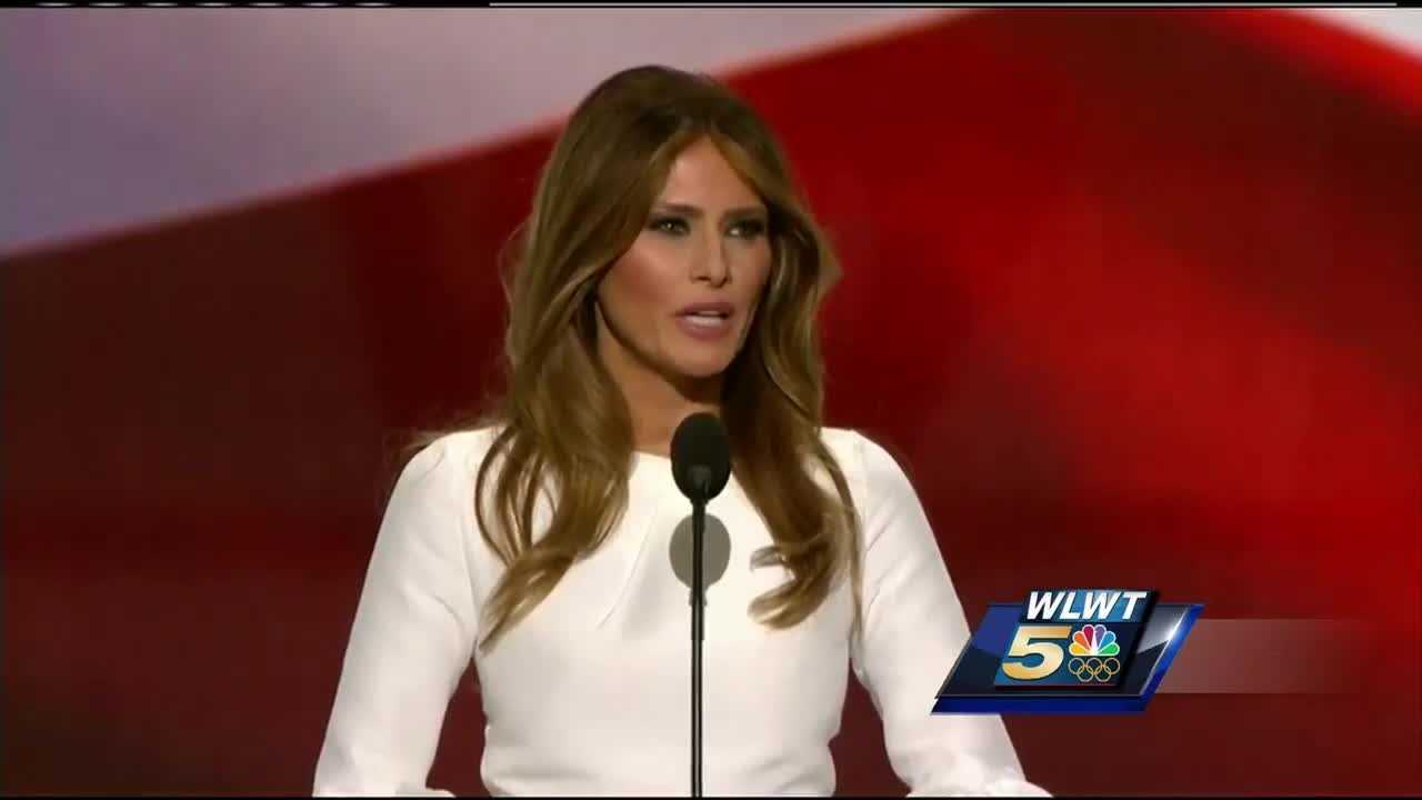 Melania Trump stepped to center stage Monday night in Cleveland.