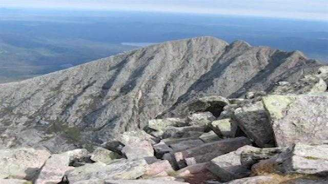 The stones are then taken to the highest points in Maine, hiked up and down mountains.