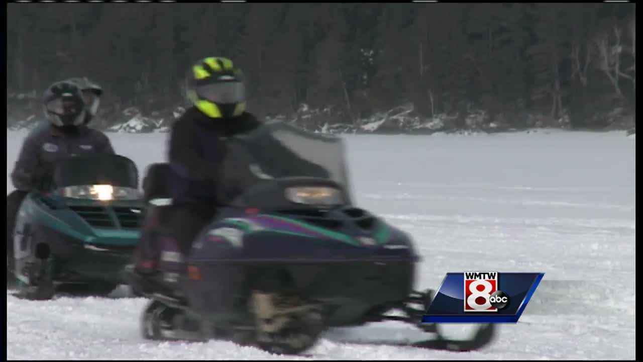 Once again, snowmobile riders gathered in Rangeley to raise money to fight Cystic Fibrosis.