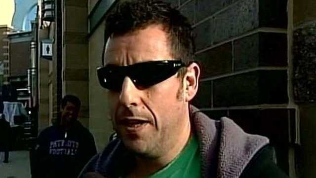 Adam Sandler was among the many celebrities in Indianapolis for the Super Bowl.