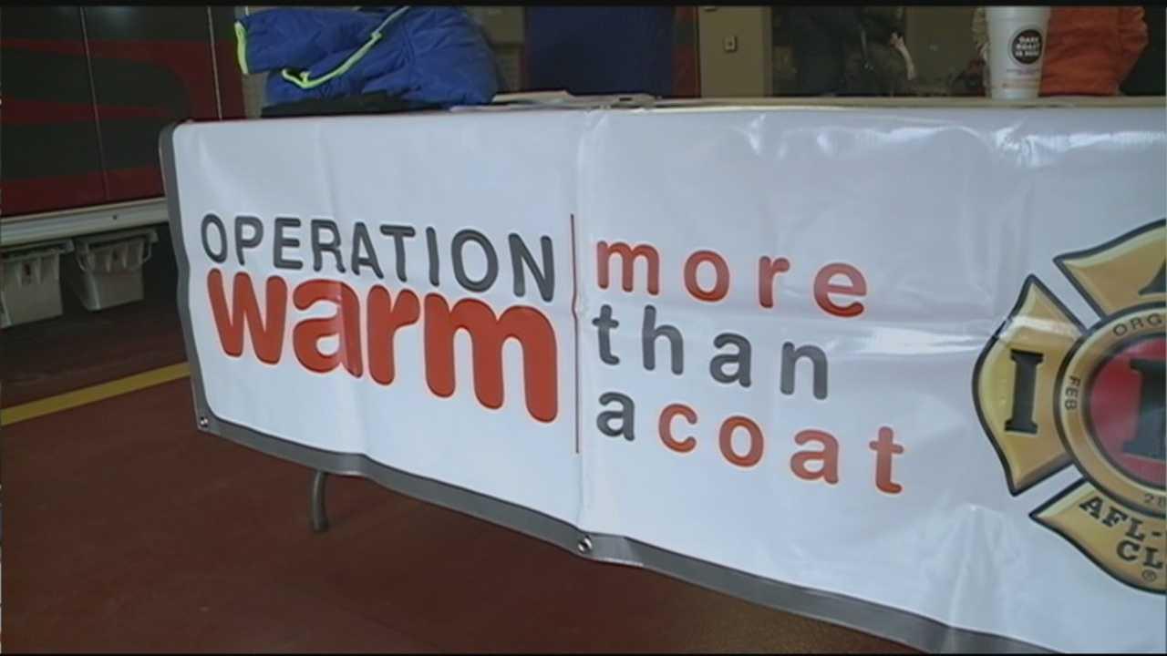 Hooksett firefighters give 80 chuildren new coats through 'Operation Warm'