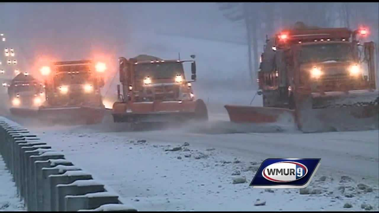 Hazardous morning commute during early spring snowstorm