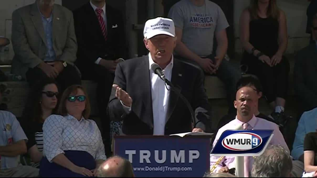 Watch as Republican presidential hopeful Donald Trump delivers a speech on trade at the former Osram Sylvania building in Manchester.