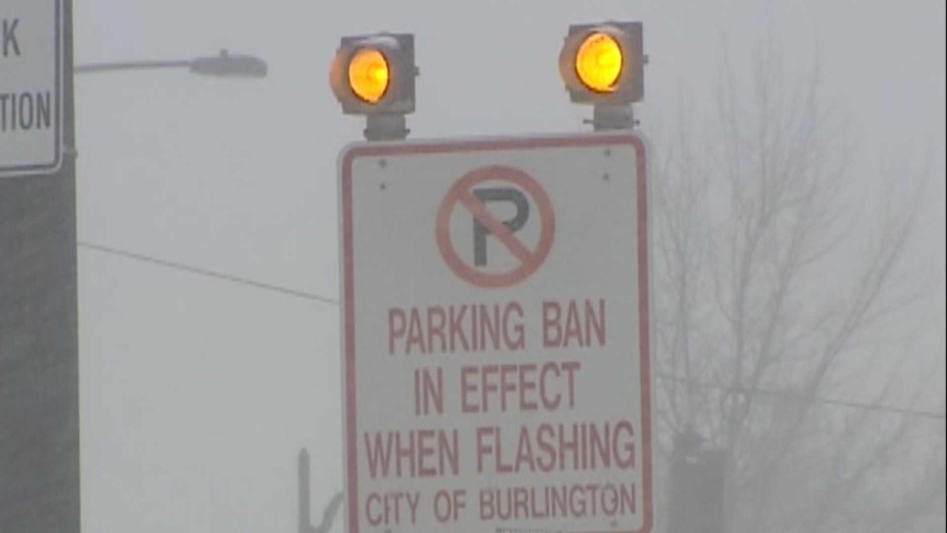 Burlington parking ban