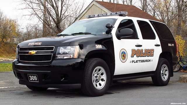 A Plattsburgh Police Vehicle