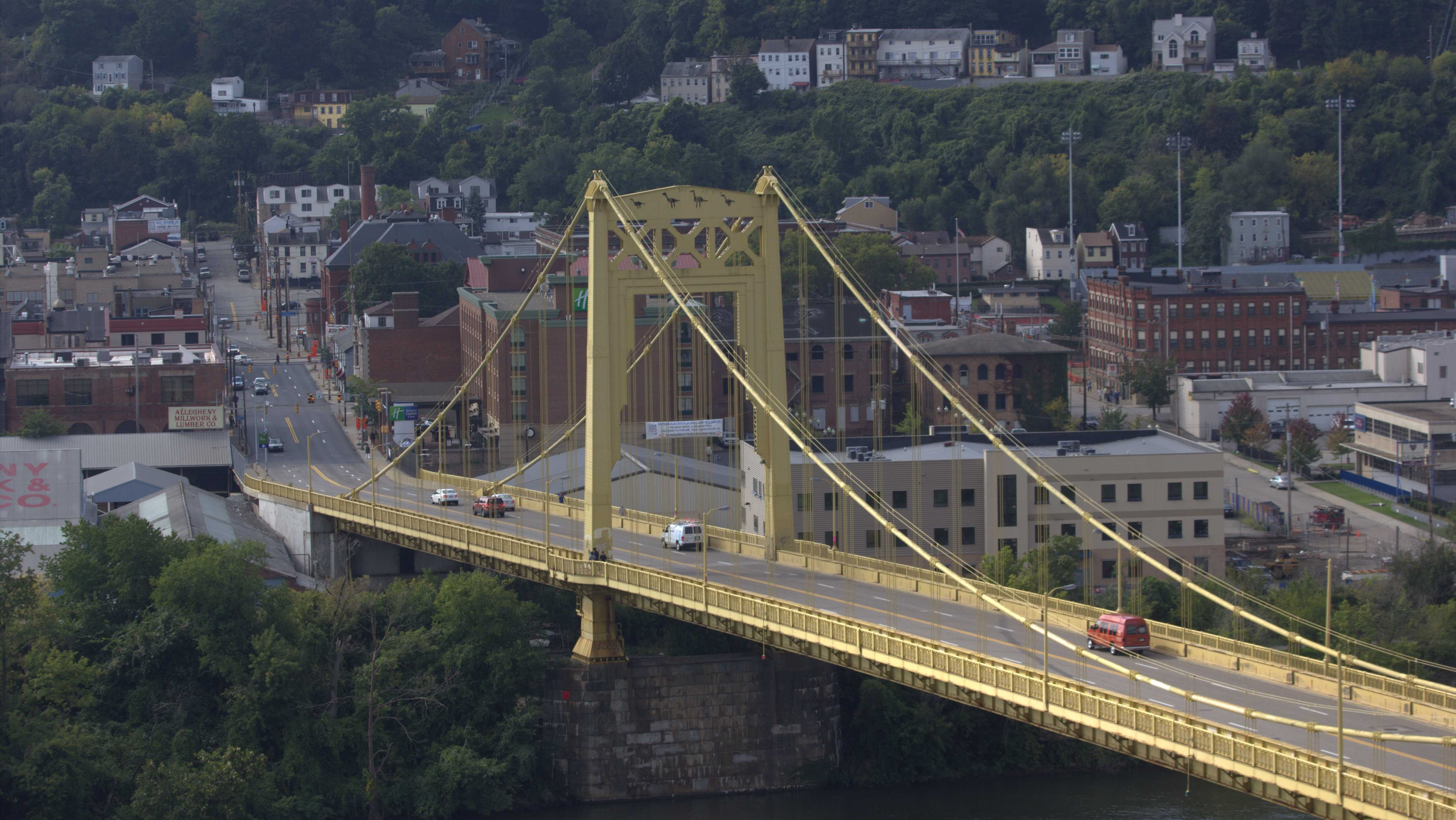 The South 10th Street Bridge (a.k.a. Philip Murray Bridge) on Pittsburgh's South Side