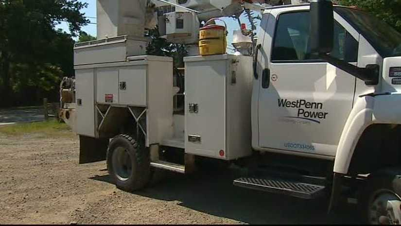 West Penn Power utility truck