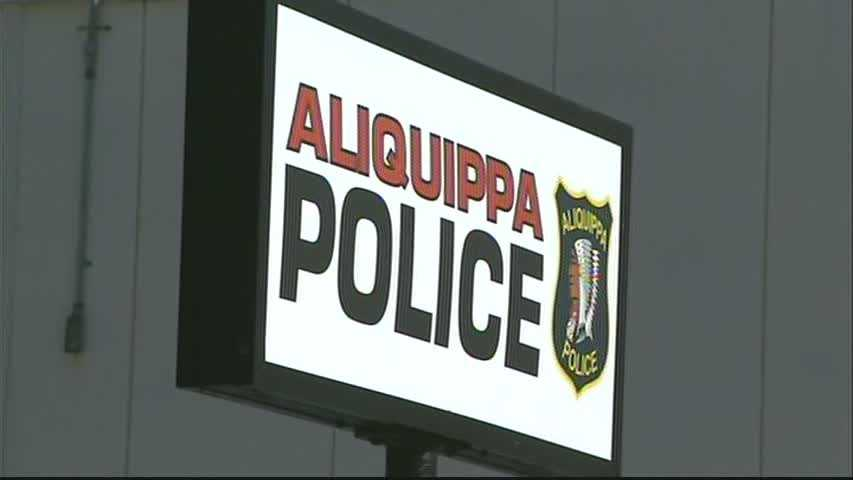 Aliquippa police station sign