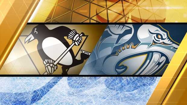 Predators, Penguins score late in 1st period