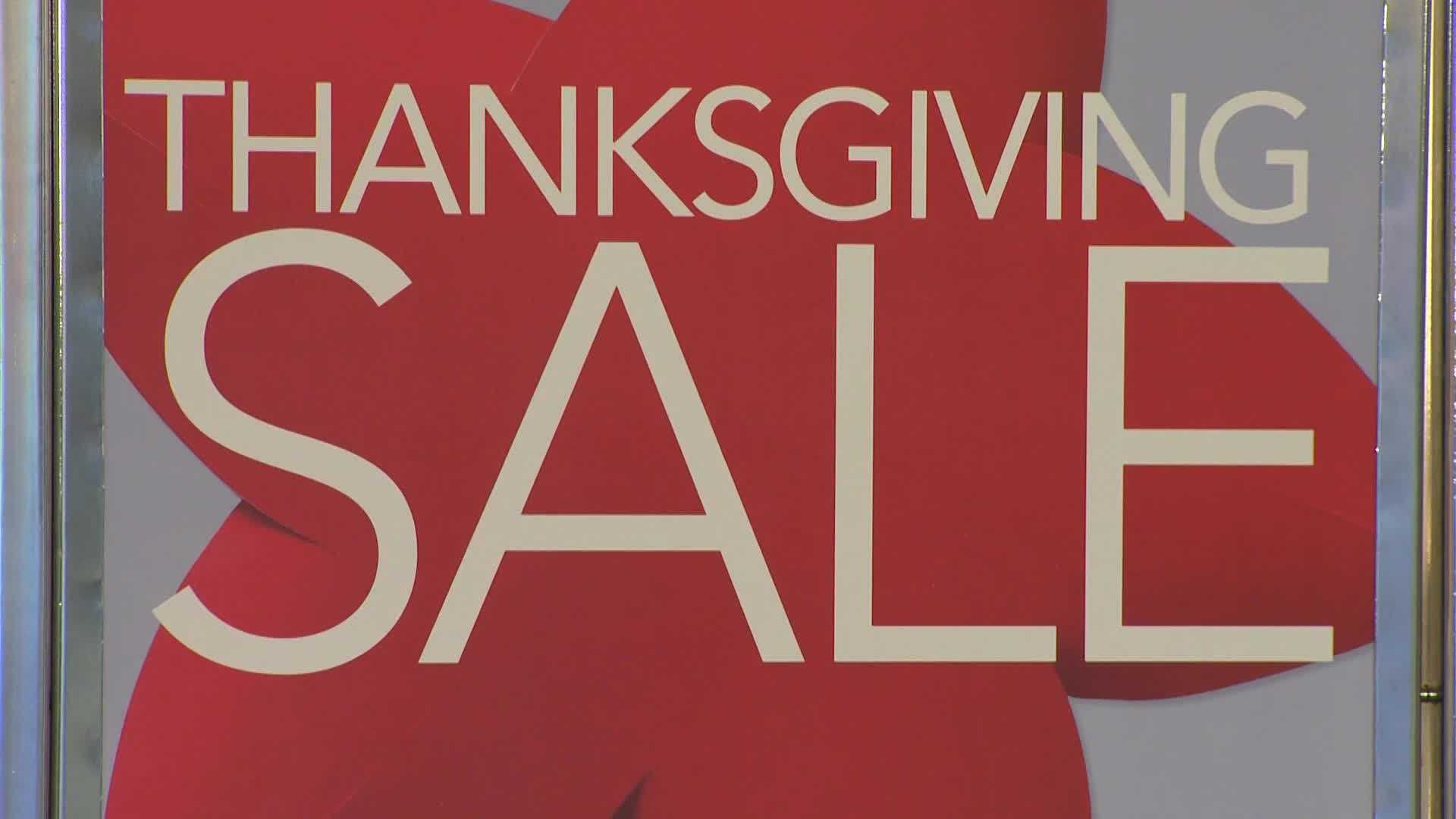 Thanksgiving sale shopping