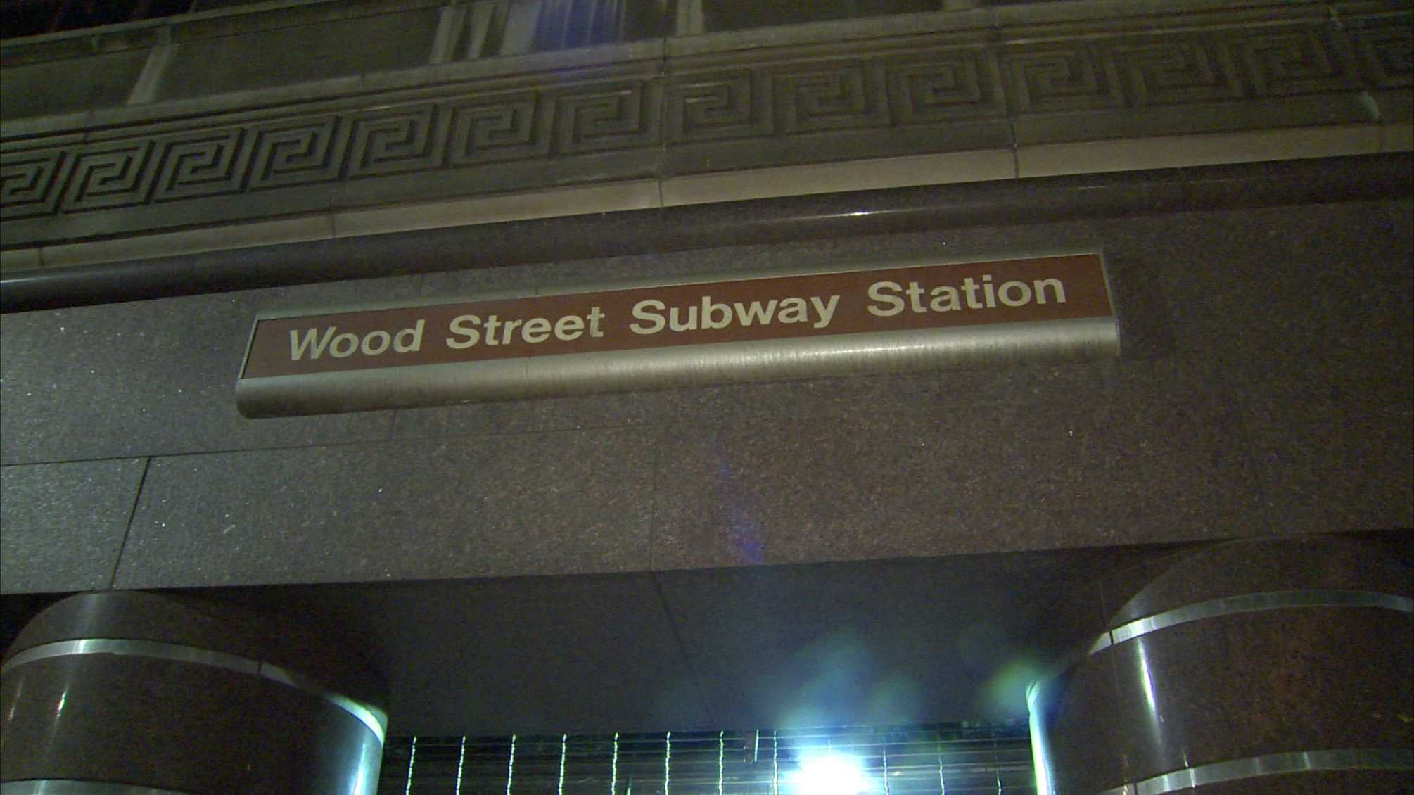 The Wood Street subway station for the T.