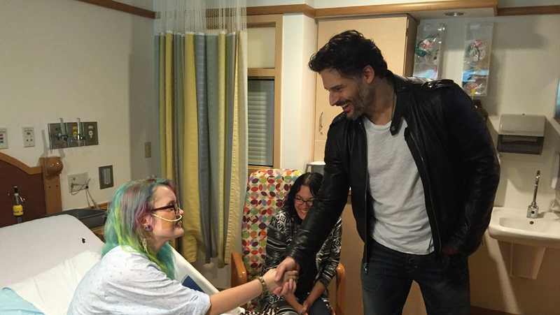 Joe Manganiello at hospital 3