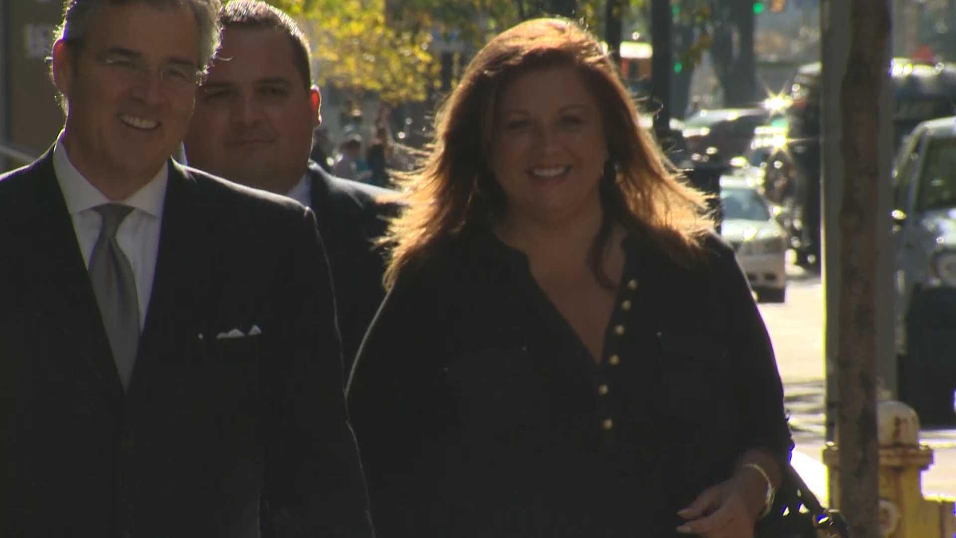 """""""Dance Moms"""" star Abigale Lee Miller arrives at federal court."""