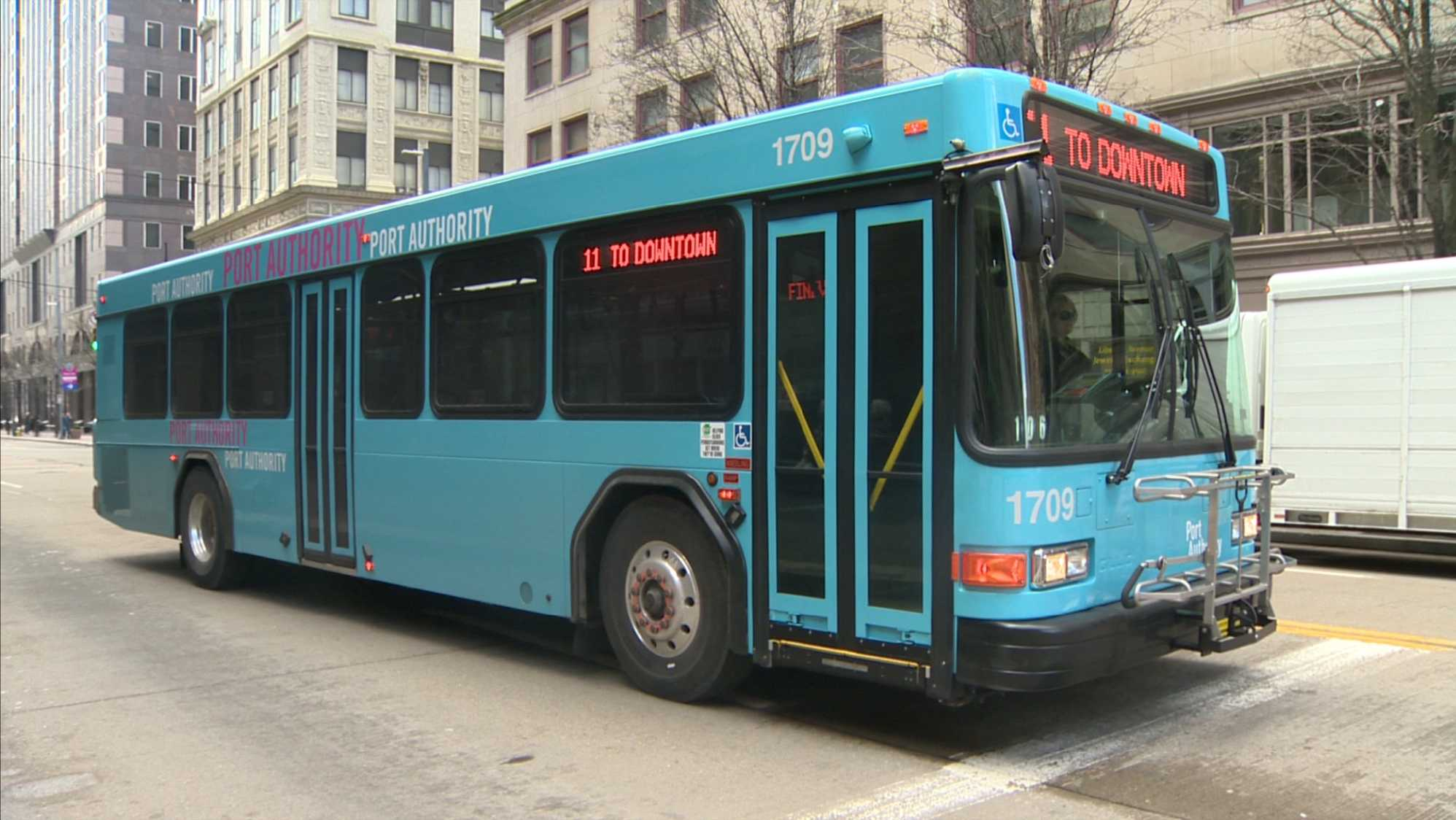 Port Authority bus downtown