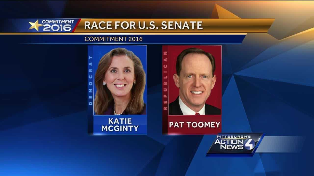 Democrat Katie McGinty will challenge Republican U.S. Sen. Pat Toomey in the November election in Pennsylvania.