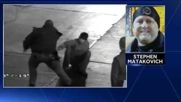 Heinz Field surveillance video showed then-Pittsburgh police Sgt. Stephen Matakovich hitting a suspect during an arrest.