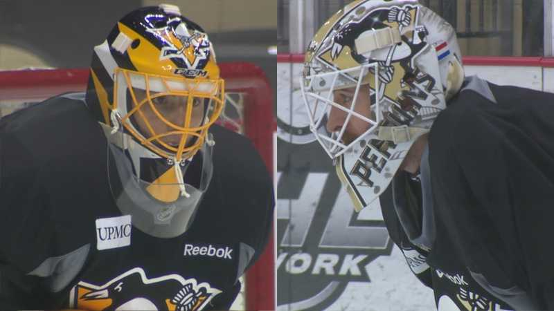 Penguins goaltenders Marc-Andre Fleury (left) and Matt Murray (right)