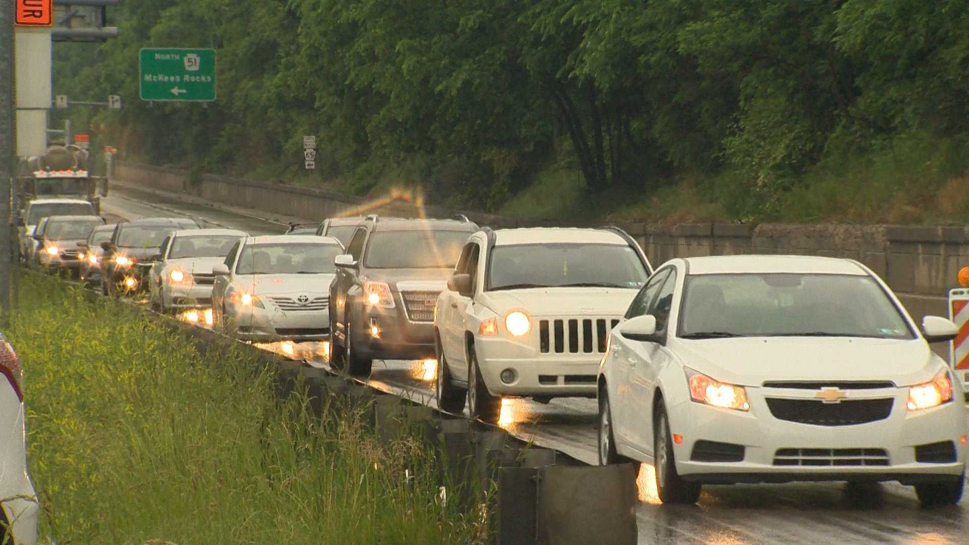 Traffic backups on Route 65