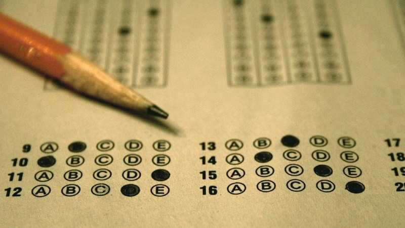 Standardized test, bubble sheet
